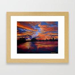 dark lake Framed Art Print