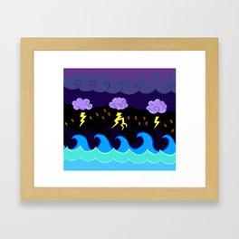 Coffee Storm Framed Art Print