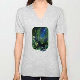 Silent Night in the New Zealand Forest Unisex V-Neck