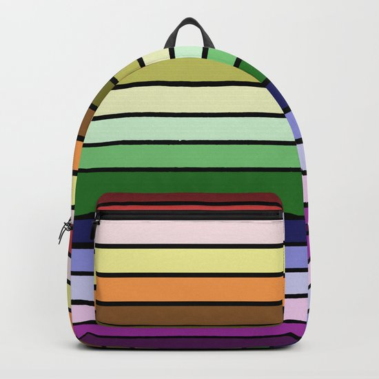 MULTICOLORED STRIPES (abstract pattern) Backpack