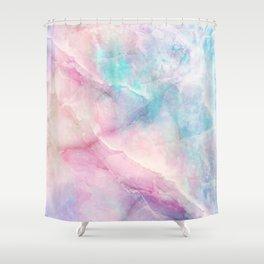 Iridescent marble Shower Curtain