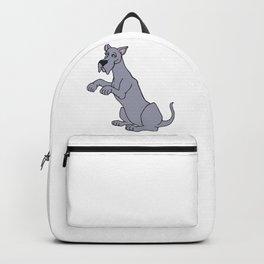 Gray Begging Great Dane Dog Backpack
