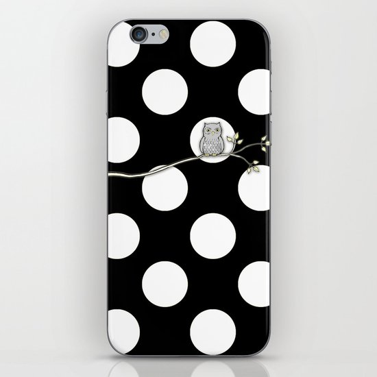 Out on a Limb - Polka Dot Owl Moon iPhone Skin