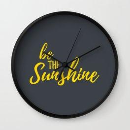 Inspirational Quotes - Sunshine Wall Clock