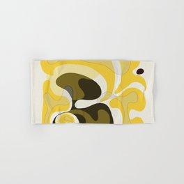 Yellow and Black Abstract Hand & Bath Towel