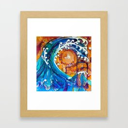 Aoukusai Wave Framed Art Print