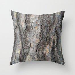 pine tree bark - scale pattern Throw Pillow