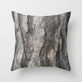 pine tree bark - scale pattern Throw Pillow