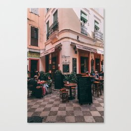 Spanish cafe Canvas Print