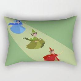 3 Fairies (Green) Rectangular Pillow