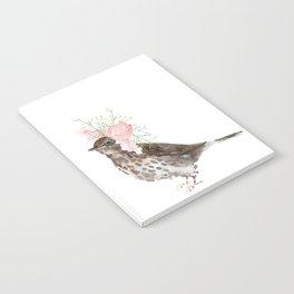 Boho Chic wild bird With Flower Crown Notebook