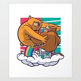 Bear Bull Art Print
