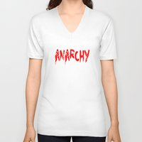 sons of anarchy V-neck T-shirts featuring ANARCHY by lucborell