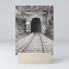 Bellingham Railroad Tunnel, Washington Trains, Northwest Landscape, Sepia Print Mini Art Print