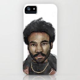 Childish Gambino Portrait iPhone Case