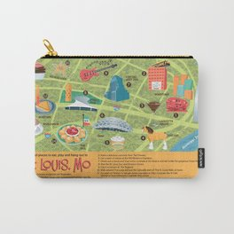 Square Map of St. Louis Carry-All Pouch