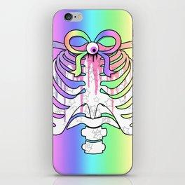 Pastel Rainbow Ribcage iPhone Skin
