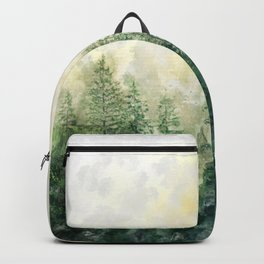 Pine Forest Watercolor Backpack