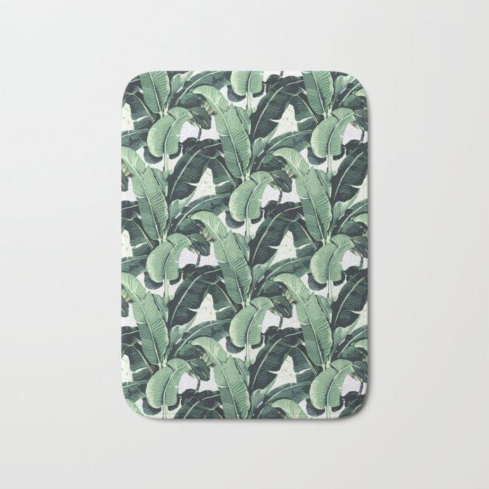 Tropical Banana Leaf Bath Mat by vitor7costa | Society6 on leaf design curtains, leaf design sheets, leaf design furniture, leaf design rugs,