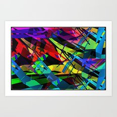 Color splinter in the abstract. Art Print