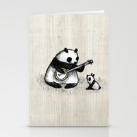 banjo Stationery Cards featuring Banjo Panda by Sophie Corrigan