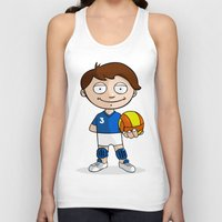volleyball Tank Tops featuring Volleyball player by Jordygraph