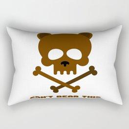 Animal Skull Can't Bear This Bear Skull Funny Animal Gift Animal Lover Gift  Rectangular Pillow