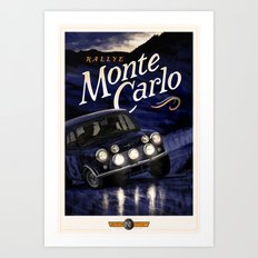 Motor Style Inc.: Rallye Monte Carlo Art Print