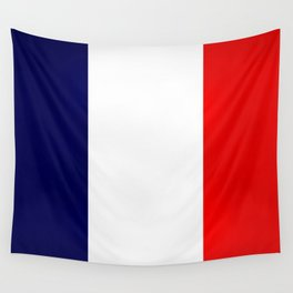 France Flag Dirty Wall Tapestry