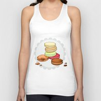 macarons Tank Tops featuring Macarons | SCARLETTDESIGNS. by ScarlettDesigns