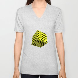 All Boxed Up Series - 3D Art Yellow & Blue Unisex V-Neck