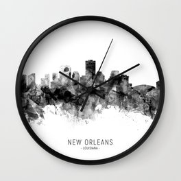 New Orleans Louisiana Skyline Wall Clock