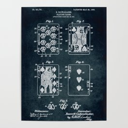 1904 - Playing cards patent art Poster