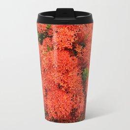 Tropical Orange Flowers Travel Mug