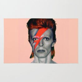 pinky bowie3 Rug