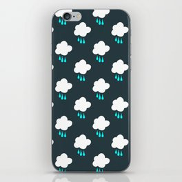 Rain Cloud Pattern iPhone Skin