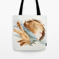 matty healy Tote Bags featuring Harbinger by Jennifer Healy