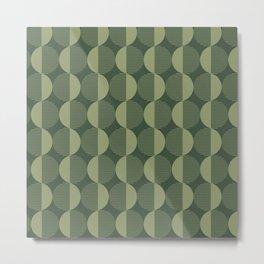 Abstract Circles pattern green  Metal Print