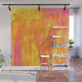 Sunny Yellow Vibes Abstract Version 2 Wall Mural