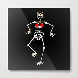 Skeleton Mumu Tooth Gold Metal Print