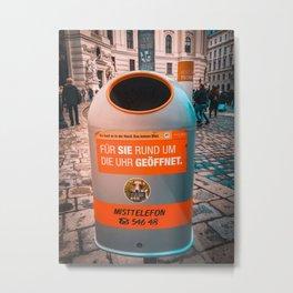 Useful Trash Bin Metal Print