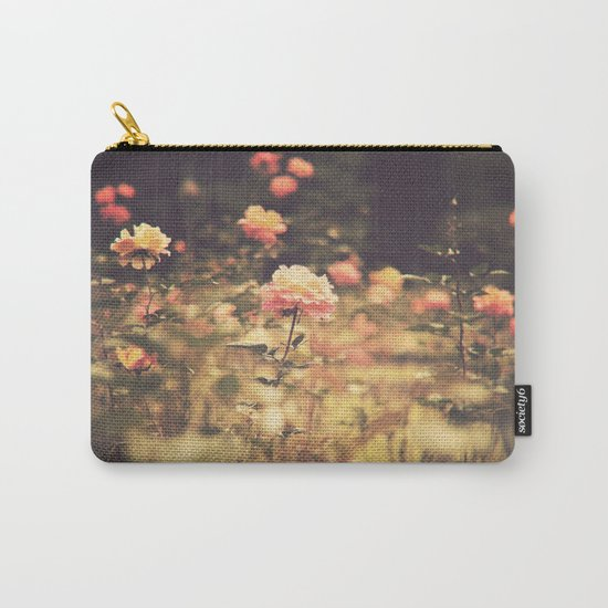 One Rose in a Magic Garden (Vintage Flower Photography) Carry-All Pouch