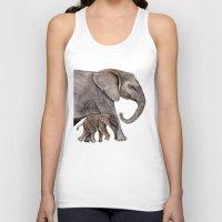 elephants Tank Tops featuring Elephants by Goosi