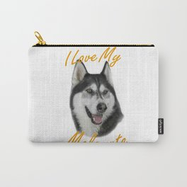 I Love My Malamute Carry-All Pouch
