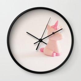 I See Pink Unicorns Wall Clock