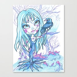 Blue on Blue Canvas Print