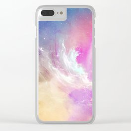Galactic waves Clear iPhone Case