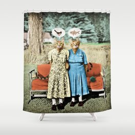 Two Cool Kitties: What's for Lunch? Shower Curtain