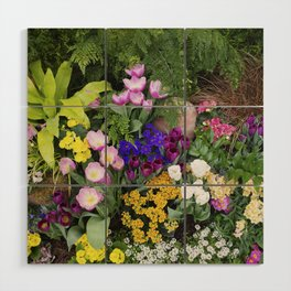 Floral Spectacular - Spring Flower Show Wood Wall Art