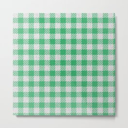 Medium Sea Green Buffalo Plaid Metal Print